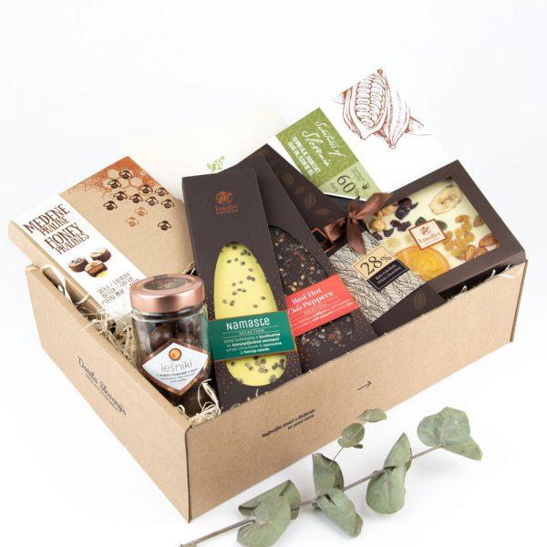 Darili paket v kartonski škatli za čokoholičarje