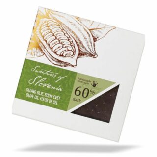 Čokoladna darila temna čokolada z olivnim oljem in soljo slovenska čokolada