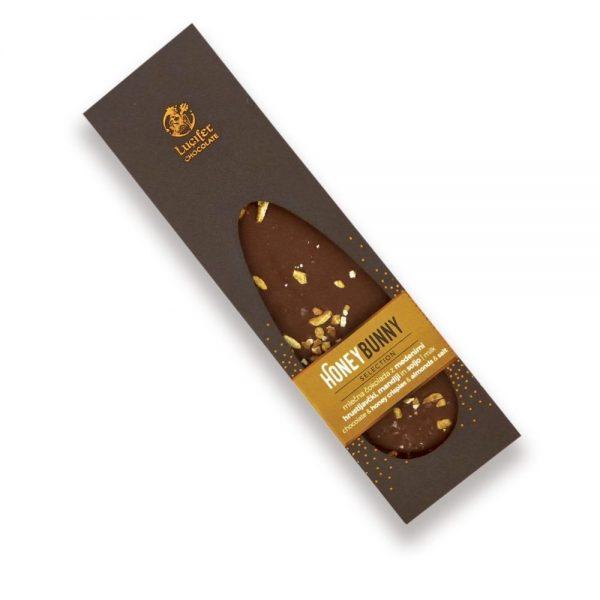 Čokoladna tablica mlečna čokolada z medom mandlji soljo