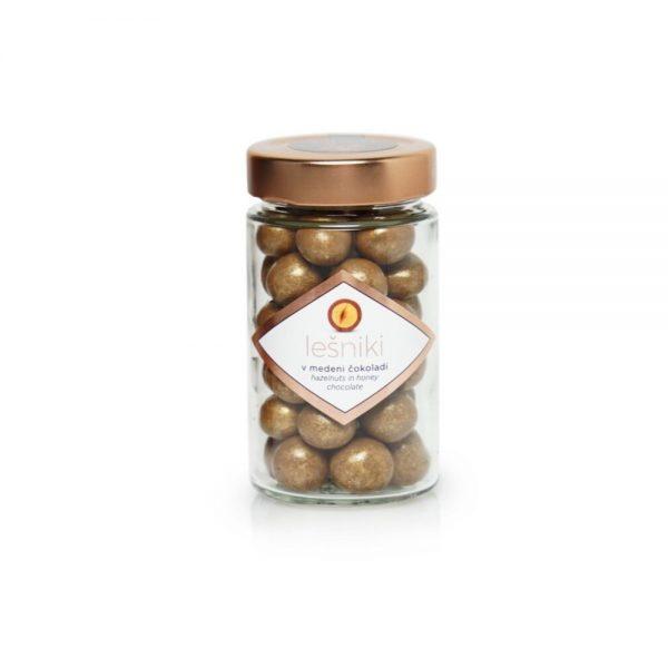Čokoladne kroglice lešniki v medeni čokoladi
