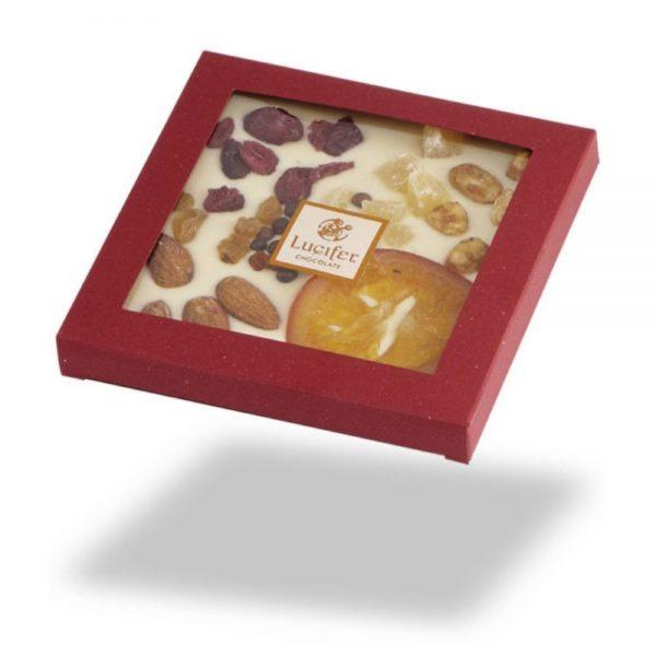 Čokoladne tablice posuta bela čokolada s sadjem in oreščki čokoladna darila 1