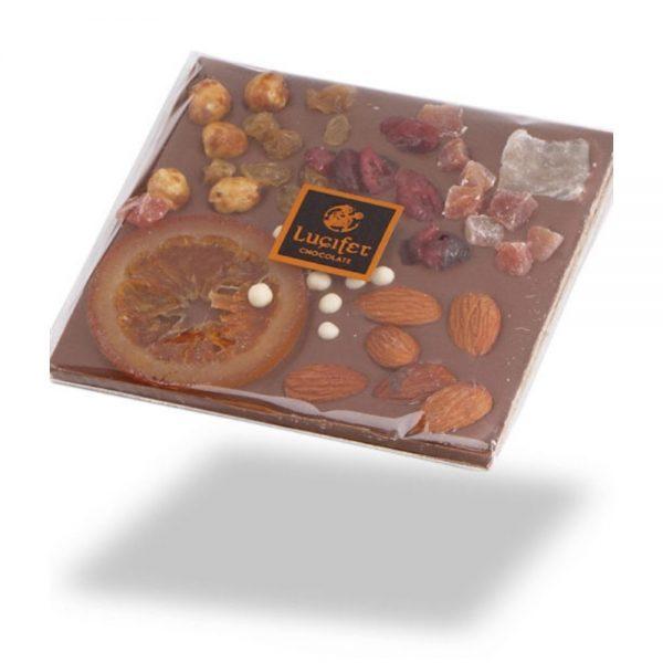 Čokoladne tablice posuta mlečna čokolada s sadjem in oreščki čokoladna darila 1