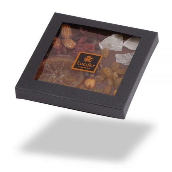 Čokoladne tablice posuta mlečna čokolada s sadjem in oreščki čokoladna darila