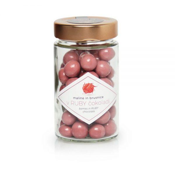 Čokoladne kroglice maline in brusnice