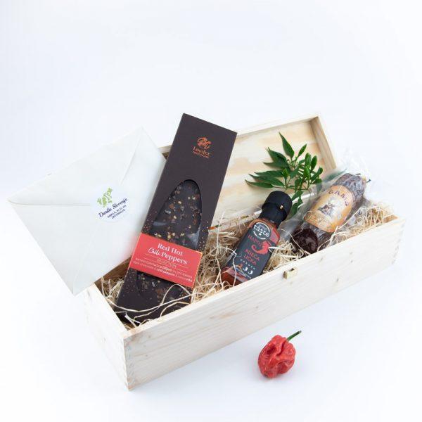 Darilni pakete Fuzija okusov čili čokolada salama