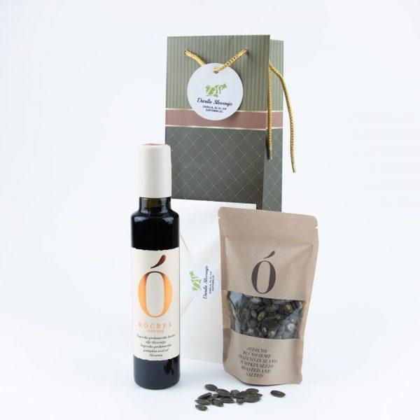Darilna vrečka bučno olje bučna semena