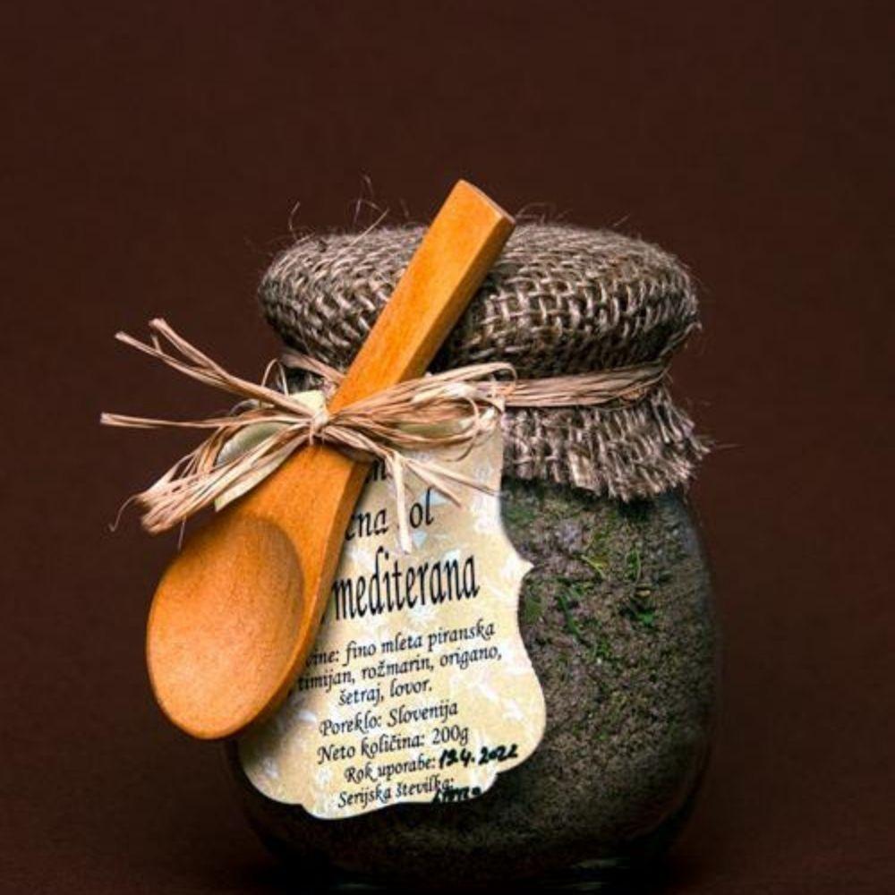 Jedilna zeliščna sol okus Mediterana