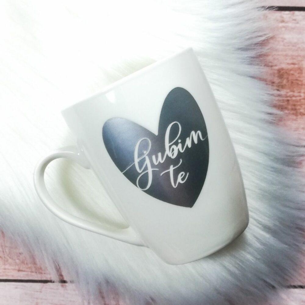Ljubim te keramična skodelica