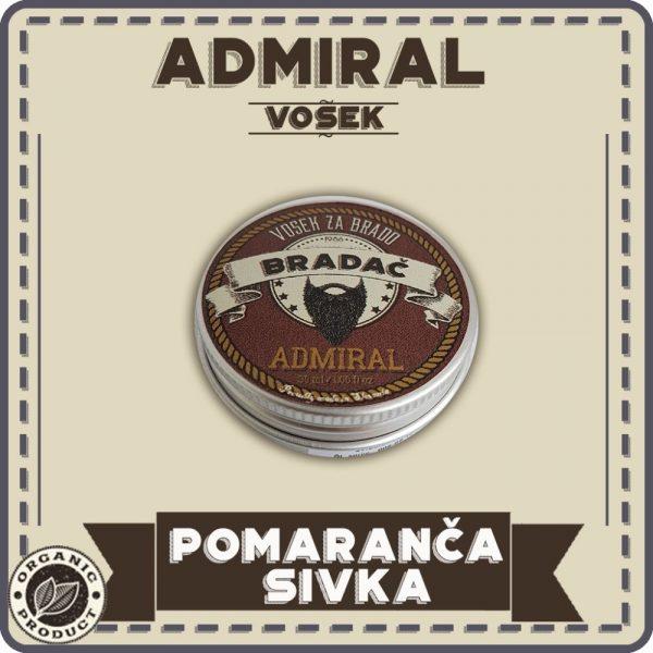 Vosek admiral za nego brade in brkov 1