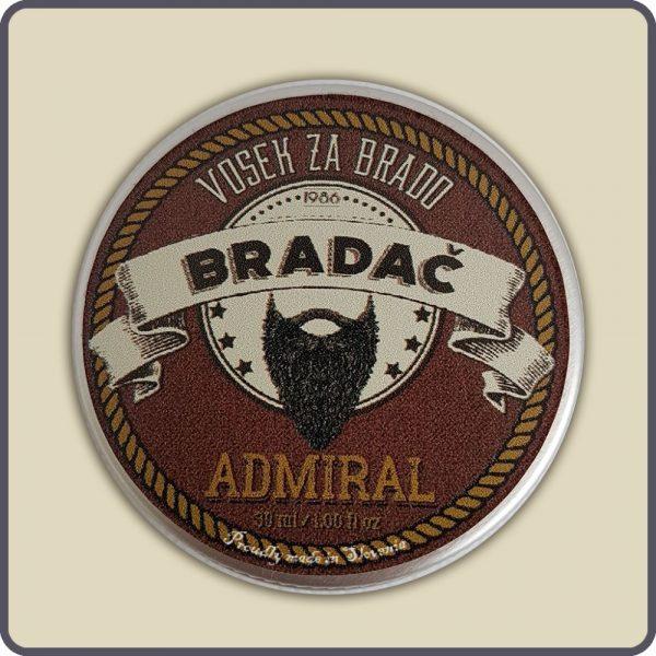 Vosek admiral za nego brade in brkov