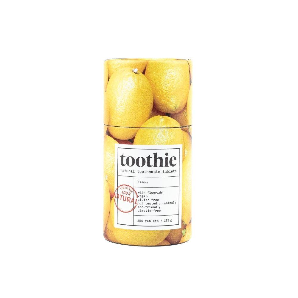 Zobna pasta v tabletah limona zaščiti in obnovi sklenino