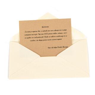 Kuverta z osebnim posvetilom