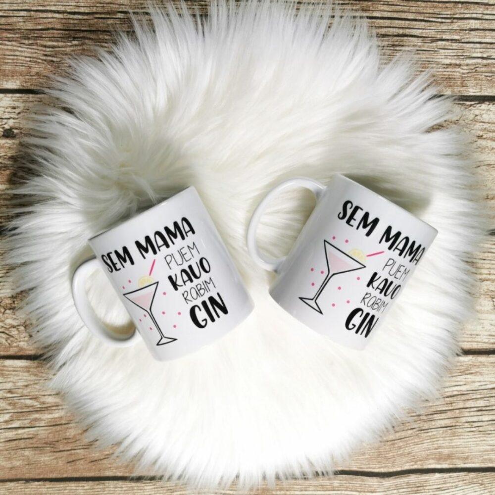 Keramična skodelica – Sem mama, pijem kavo, rabim gin