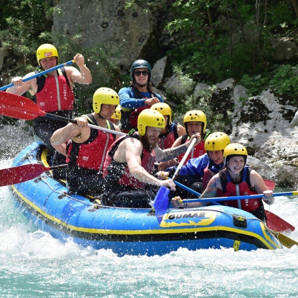 Rafting na reki soči za 2 osebi