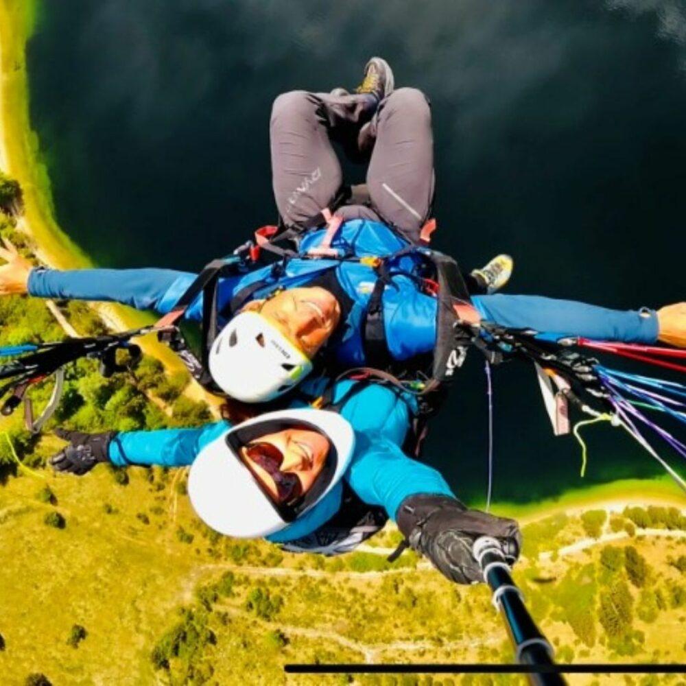 Akrobatski polet z jadralnim padalom v tandemu - Vogel