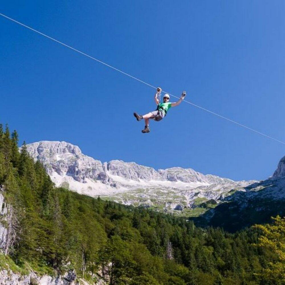 Ziplane za 4 osebe - Adrenalin park Bovec